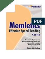 Memletics Effective Speed Reading Course