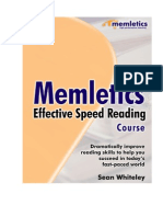 Memletics Effective Speed Reading Course
