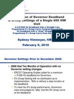 Comparison of Governor Deadband Settings Feb 2010