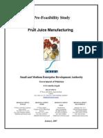 SMEDA Fruit Juice Processing 2007