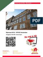 3D Brochure Rijnstraat 40 III Te Amsterdam