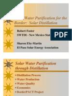 Purificador de Agua Solar