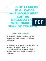 Types of Leaders and a Leader That Would
