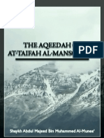 The Aqeedah of at Taifah Al Mansoorah