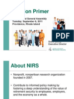 Sept Briefing National Institute for Retirement Security