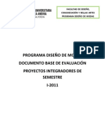 Criterios Evaluativos PIS, Octubre 2011 Definitivo