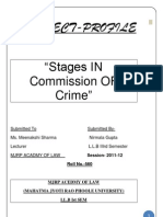 Stages in Commission of Crime