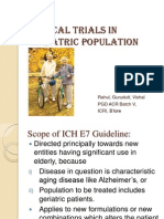 Clinical Trials in Geriatric Population