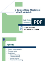 Detecting Source Code Plagiarism With CodeMatch