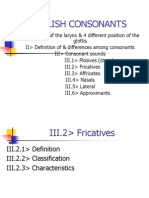 NHA1 - Fricatives & Affricates