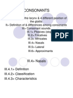NHA1 - Nasals, Lateral, Approximants