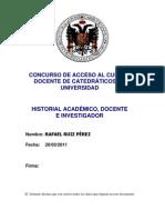 c Vitae. Historial Academico Docente e Investigador (Reparado