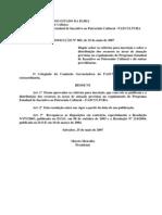 Resolução 065-2007 - Critérios de Inscrição (Nova)