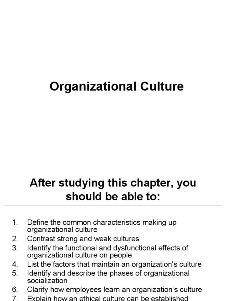 dysfunctional organizational culture definition