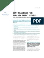 Best Practices Teach Effectiveness