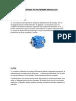 Componentes de Un Sistema Hidraulico