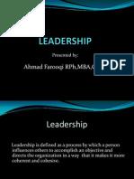 Leadership Lecture Slide Presentation - 23 February 2009