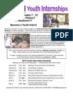 2012 Youth Internship Application - North Berrien Historical Museum