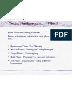 Testing Processes Methodology-When SDLC