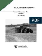 Land Application of Manure - Manure Management Plan Guidance (11-07-11)