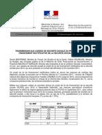 Le communiqué sur le projet de loi de financement rectificative de la Séecurite sociale pour 2012