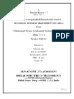 Seminar Report 2 FDI in Retail