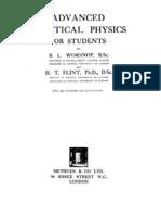 Advanced Practical Physics Worsnop and Flint