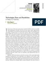 Technologies Texts and Possibilities