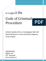 Anticipatory Bail In India