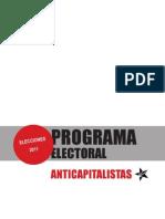 Programa Electoral Anticapitalistas