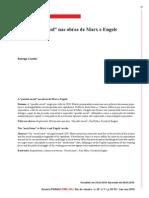 Artigo - A questão social nas obras de Marx e Engels