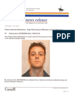 Public Notification of Andrew Aurie JEFFERSON