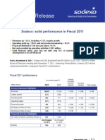 593600 Sodexo Results FY2011