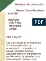 Clase Procedimientos Cielo Falso, Durock, Tablaroca