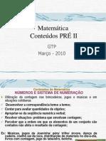 Matemática conteúdos preII E Habilidades