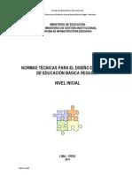 NORMAS TÉCNICAS PARA EL DISEÑO DE LOCALES DE EDUCACIÓN BÁSICA REGULAR NIVEL INICIAL