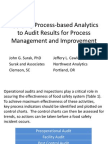 Applying Process Based Analytics