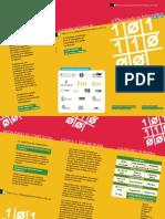 Tríptico de la 6ª Olimpiada Informática  de Castilla-La Mancha UCLM 2011-2012