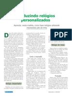 PRODUZINDO RELOGIOS PERSONALIZADOS