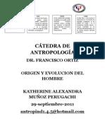 CÁTEDRA DE ANTROPOLOGÍA