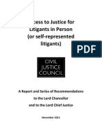 Civil Justice Council - Report on Access to Justice for Litigants in Person (or Self-represented Litigants) Copy