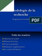Mthodologie de La Recherche