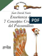 Nasio 2C Juan David - Ensenanza de 7 Conceptos Cruciales Del Psicoanalisis 28CV 29e