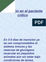 Nutrición en El Paciente Critico