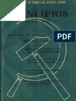 PRINCIPIOS N°2 - AGOSTO 1941 - PARTIDO COMUNISTA DE CHILE