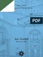 Jane Goodall -- Reason for Hope
