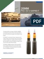 25mm PGU-32/U SAPHEI-T Semi-Armor Piercing High Explosive Incendiary-Trace