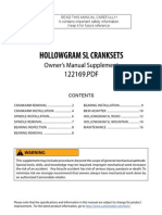 2008 Hollow Gram Sl Crank Owners Manual Supplement En