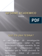 INFORME ACADEMICO, tesina