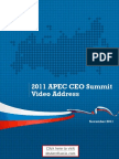Russian President Medvedev 2011 APEC CEO Summit Video Address Transcript
